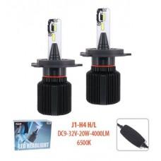 Cветодиодные лампы для авто Pulso J1 H4 20W 4000Lm 6500K
