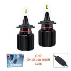 Cветодиодные лампы для авто Pulso J1 H7 20W 4000Lm 6500K