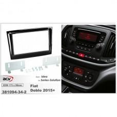 Рамка переходная AWM 381094-34-2 Fiat Dobo (263)/Opel Combo 2015 piano black