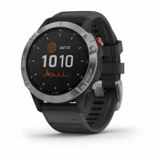 Garmin Fenix 6 Solar, Silver with black band (010-02410-00)