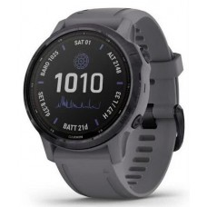 Garmin Fenix 6S Pro Solar, Amethyst Steel with Shale Gray Band (010-02409-15)