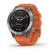 Garmin Fenix 6 Titanium with Ember Orange Band 010-02158-14